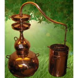 20 L Copper Alembic effect of double distillation